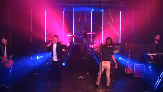Go Go Gadjet, a cover band that regularly plays in Dewey Beach, performed a full stage show Saturday from their rehearsal space and streamed it live online.