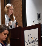 Augusta Slocum, a nurse practitioner, urged the Wichita Falls City Council to consider a shelter in place order during a special session meeting Wednesday to help slow the spread of the Coronavirus in the community.