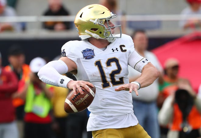The possibility of a season is still open for Notre Dame and quarterback Ian Book.