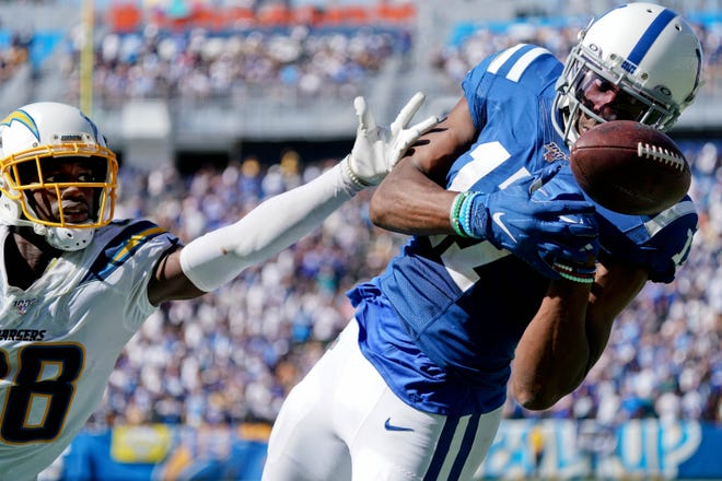 Former Colts receiver Devin Funchess officially signed Thursday with the Packers.