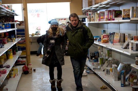 "Anna Jacoby-Heron and Matt Damon in a scene from ""Contagion"""