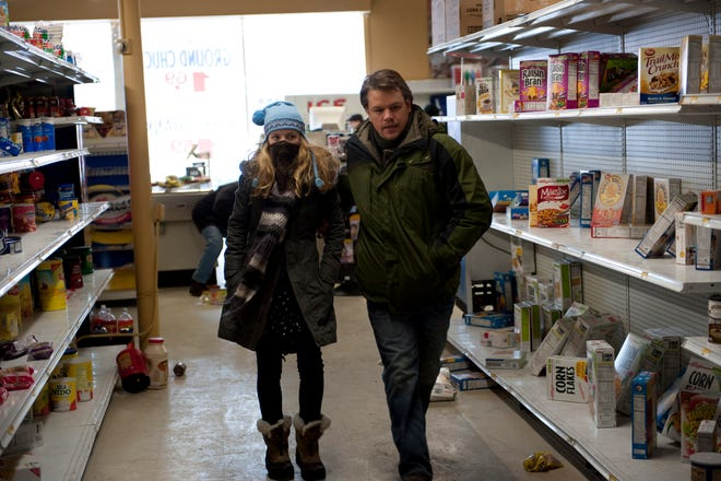 """Anna Jacoby-Heron and Matt Damon in a scene from """"Contagion"""""""