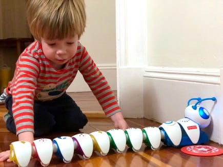 The Hasbro Code-a-Pillar is a great way to get kids thinking about programming basics.