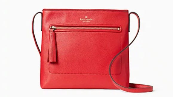 Sleek and stylish, this red crossbody is perfect for the gal on-the-go.