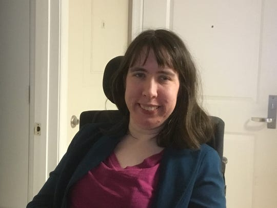 Margaret Breihan, 31, of Silver Springs, Maryland, has cerebral palsy and relies on two nursing assistants who visit her six days a week. She said she fears what will happen if they stop coming due to coronavirus concerns.