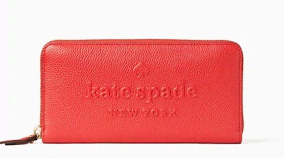 Add a chic wallet to your ensemble.