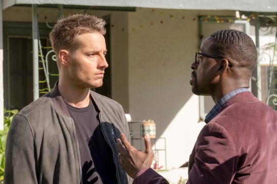 "Justin Hartley as Kevin and Sterling K. Brown as Randall in the ""This Is Us"" Season 4 finale."
