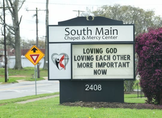South Main Chapel and Mercy Center in Anderson will continue to give out bags of food and snack packs, Sunday through Thursday, 11:30 a.m. to noon. Young Memorial made food bags for the center to distribute, as part of the Saturday Servants program.