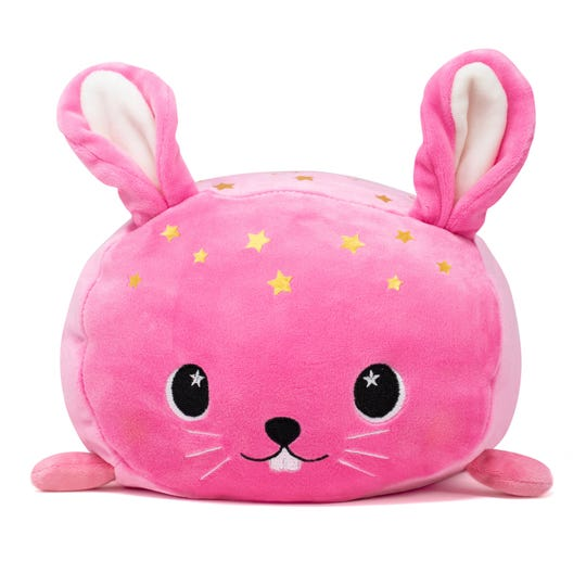 The Easter Bunny might consider leavinga Moosh Moosh next to the kids' baskets this year. These pillowy creatures are sure to get a laugh. For Easter, Moosh Moosh has added a line of limited edition pastel-colored magical stuffies, including Celeste the Bunny and a very happy Melody the Bee.