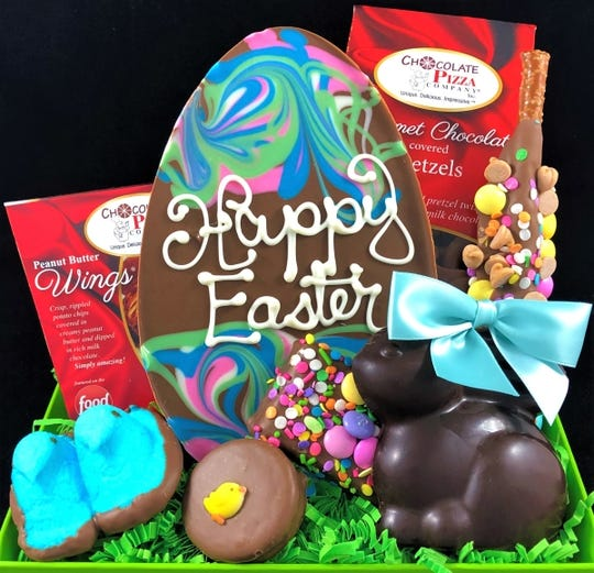 Chocolate Pizza Company in Syracuse, New York, is donating Easter treats to food banks during the pandemic.