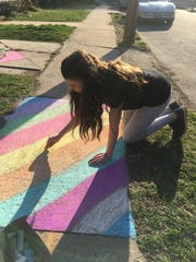 Chalk art in South River.
