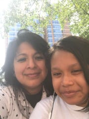 Selfies of domestic worker Claudia Martínez and her daughter Jennifer. Martínez has been staying away from her daughter for fear that she may infect her with the novel coronavirus.
