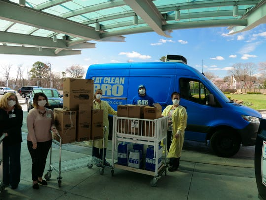 Eat Clean Bro delivers 500 meals to Jersey Shore University Medical Center in Neptune on Tuesday, March 24.