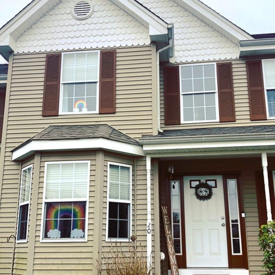 Thishouse in Barnegat sports a double rainbow, upstairs and downstairs.