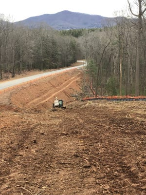 Trees are being cleared by the Blue Ridge Parkway as part of the $534 million Interstate 26 widening project.