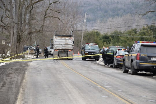 An Otsego County man was killed Wednesday, March 25, 2020, after walking into the path of a tractor-trailer in Schuyler Lake, New York State Police said.