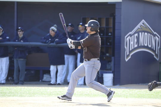 Waverly graduate Brendyn Stillman takes a cut earlier this seson for St. Bonaventure. Stillman had a .519 batting average and six home runs when the season was canceled March 12.