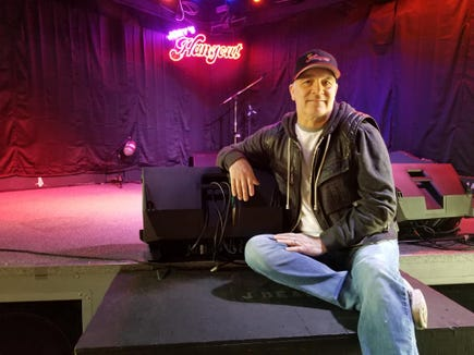 Joey Dean hopes the stage at Joey's Hangout will be hopping again soon.
