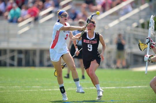 Gettysburg senior Liza Barr, a Shawnee High School graduate, competes in the NCAA Division-III playoffs last year.