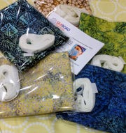 Do-it-yourself mask kits sold at Silk Road Textiles in College Hill.