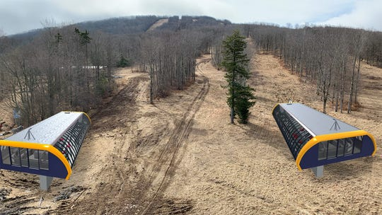 Rendering of Timberline Mountain lifts.