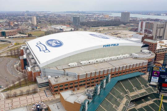 Ford Field in downtown Detroit, March 26, 2020.