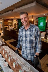 Jerry Miller, owner of The Greenhouse marijuana dispensary in Walled Lake, March 26, 2020.  A stay-home edict by Gov. Gretchen Whitmer limited marijuana sales to deliveries and curbside pickup.