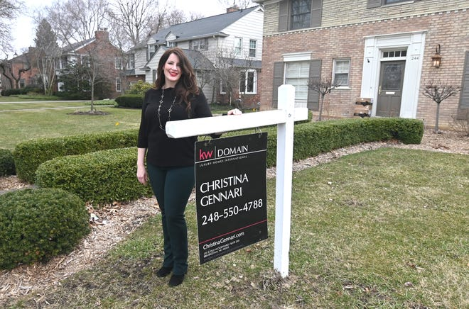 Birmingham Realtor Christina Gennari has turned to virtual tours of her listings, now that showings of homes have stopped due to the coronavirus pandemic.