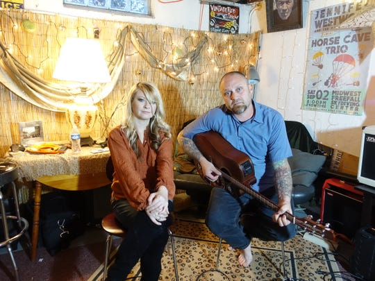 Jennifer Westwood and Dylan Dunbar stay connected with fans from around the country by live streaming performances and jam sessions from their Metro Detroit basement.