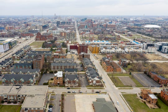 Brush Park, in downtown Detroit, March 26, 2020.