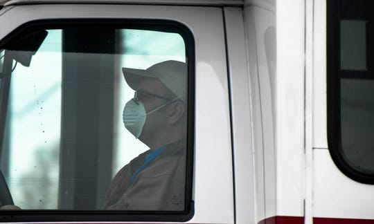 A city of Henderson HART bus system driver makes his rounds Tuesday wearing a mask as people adapt to the new reality of the coronavirus.