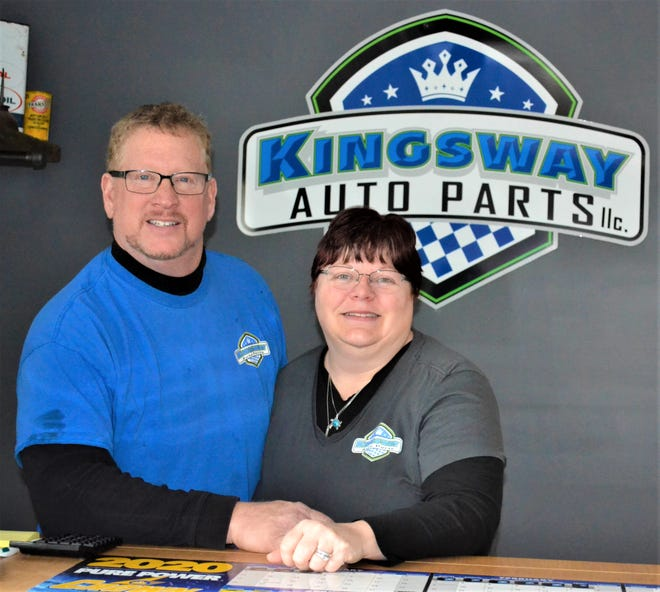 Dan and Amy Miller spent a year and a half cleaning, clearing, and upgrading Kingsway Auto Parts before opening the business under their new ownership in January, 2019. The celebrated the business' expansion this past January with a Sandusky County Chamber of Commerce ribbon cutting ceremony.