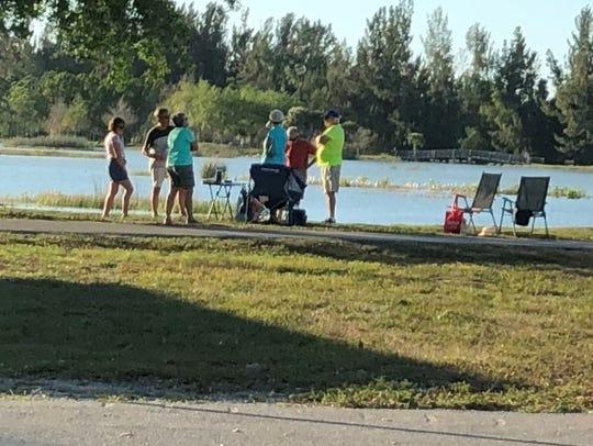 Life goes on at Lakes Park, coronavirus or not.