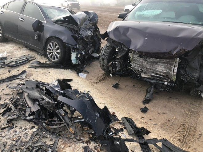 Florida State patrol troopers were on the scene of a three-vehicle head-on crash on State Road 82 and Gun Club Road in Lehigh Acres Thursday morning.