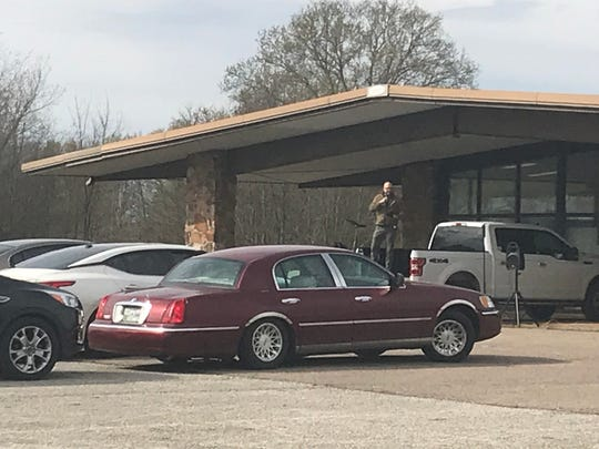 Main Street Church of Christ had drive-in church for the first time on March 22 at a former car dealership in south Milan and will continue to do so until groups are allowed to meet again.