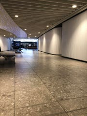 This photo of Heathrow Airport in London shows no people as the number of people traveling internationally has drastically dropped during the COVID-19 pandemic.