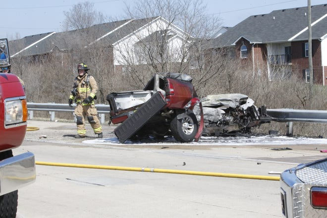 One person died Wednesday, March 25, 2020, in this fiery crash on U.S. 231 just north of Veterans Memorial Parkway.
