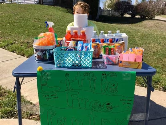 "A family in Fairfield Meadows set up a ""Little Free Pantry"" for people who need food and supplies."