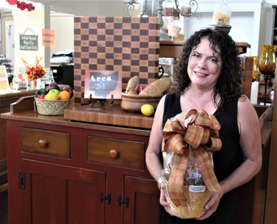 Jody Lackey, owner of The Candy Shack & Cafe in downtown Marion, said her business has been doing well despite the state order that all dining areas in restaurants be temporarily closed. She is offering carryout and delivery service. Delivery is limited to locations inside Marion city limits.
