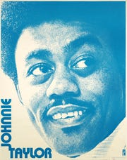A late-'60s Johnnie Taylor promotional poster is among the items found in a new digital archive available from the Stax Museum.