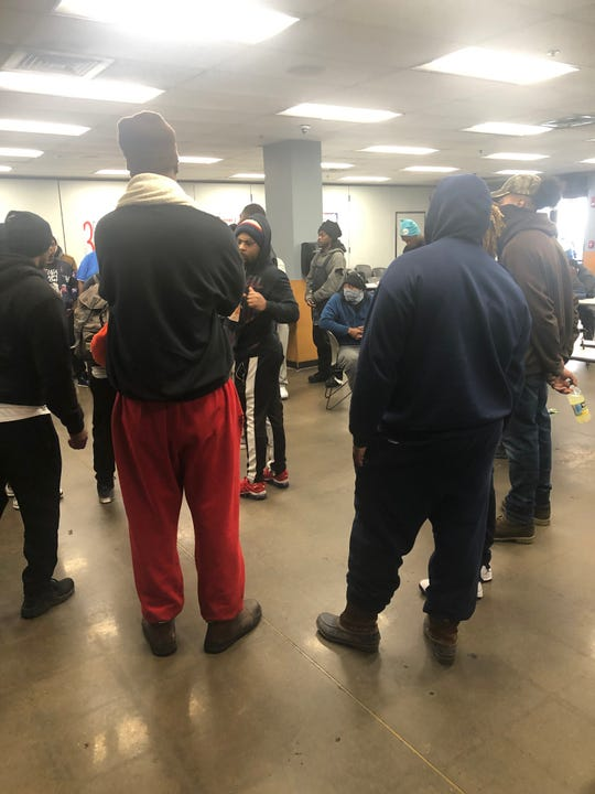 Warehouse workers who've stopped fulfilling orders at Kroger's Delta Distribution Center in Memphis have stopped work after learning a co-worker tested positive for coronavirus, taken May 26, 2020.