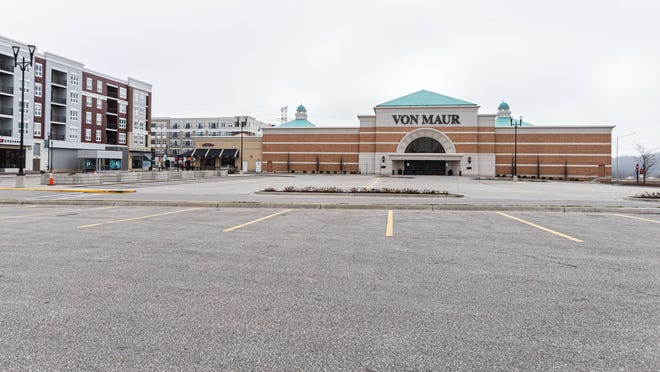 The parking lot at Von Maur in The Corners of Brookfield is deserted on March 25, the first full day after Gov. Tony Evers issued a stay-at-home order to stop the spread of the coronavirus. The order mandated all nonessential businesses around the state to close.