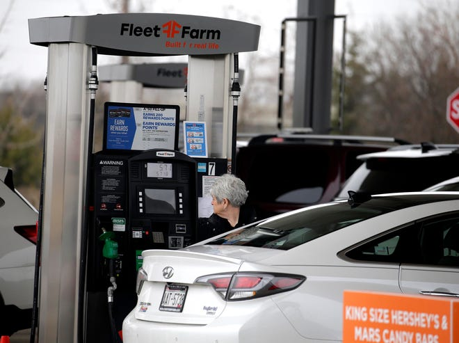Gasoline prices may continue rising in the coming days. Rick Wood/Milwaukee Journal Sentinel