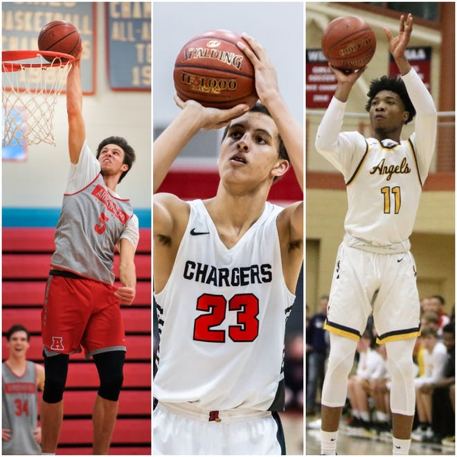 Arrowhead's Carter Gilmore (left), Sussex Hamilton's Patrick Baldwin Jr (center) and Racine St. Catherine's Tyrese Hunter earn first-team all-state distinction from The Associated Press.