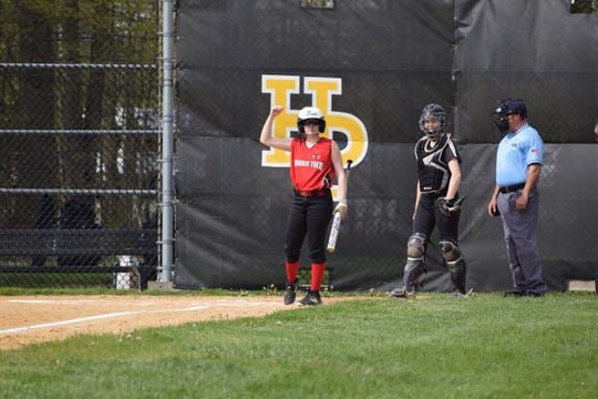 Morris Tech shortstop Erika Mack singled and scored in a Morris County Tournament second-round game at Hanover Park on April 30.