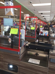 Shoppers at ShopRite of Greater Morristown will see new Plexiglass shields installed at all registers and Guest Services counters.