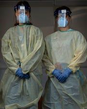 Vanderbilt University Medical Center nurses Shannon Ellrich and Kathleen Donais took on the challenge of creating COVID-19 testing sites.