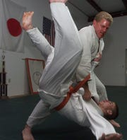 World Judo champion and Dickson Athletic Club owner Dan Smith at his gym.