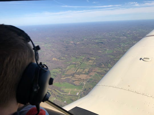 The Rev. Gervan Menezes, a priest in the Roman Catholic Diocese of Nashville, took a flight Thursday to pray over the diocese.