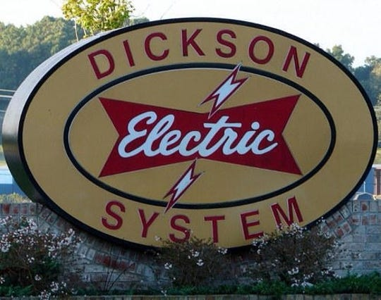 Dickson Electric System sign.